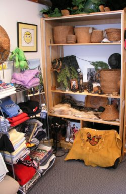 CLICK for Close-up views of Longhouse Gift Shop DISPLAY ITEMS - NOT For Sale!